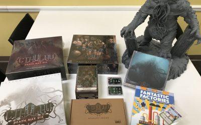 Cthulhu: Death May Die and Fantastic Factories Kickstarter Pledges Have Arrived!
