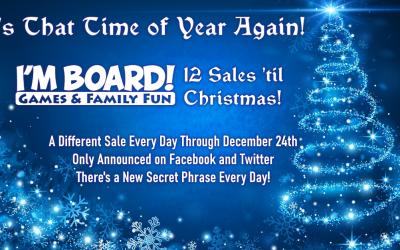 12 Sales 'til Christmas Begins Friday!